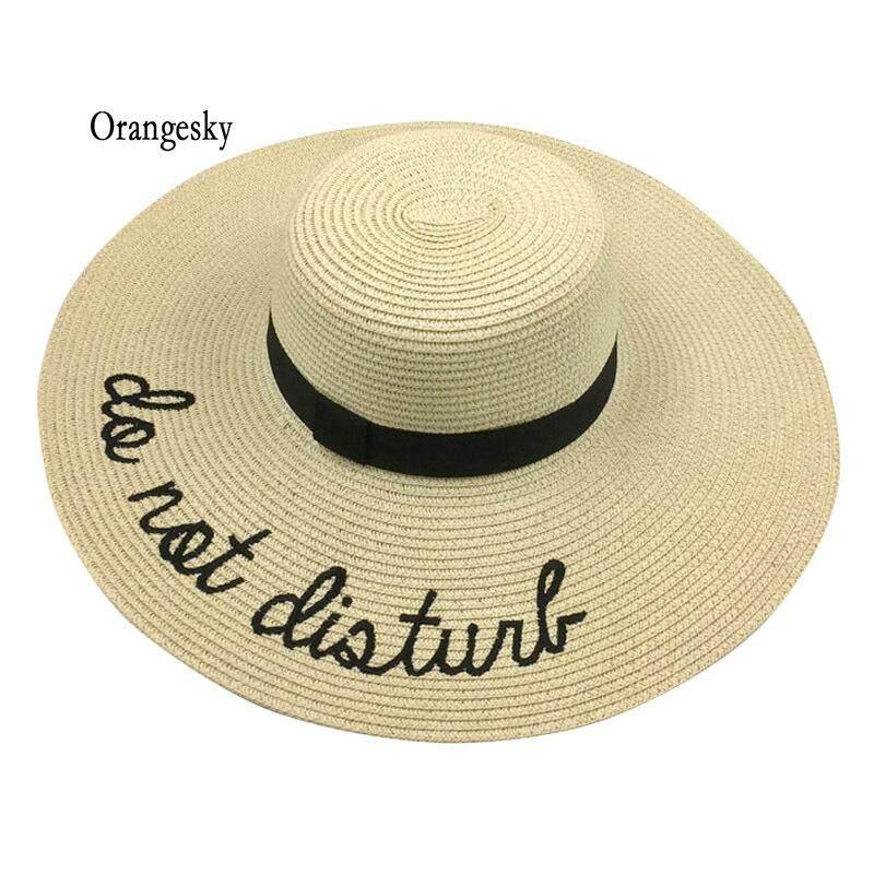 Orangesky Women Lady Straw Hat Beach Summer Cap Wide Brim Floppy Foldable Fashion Sunhat By Orangesky.