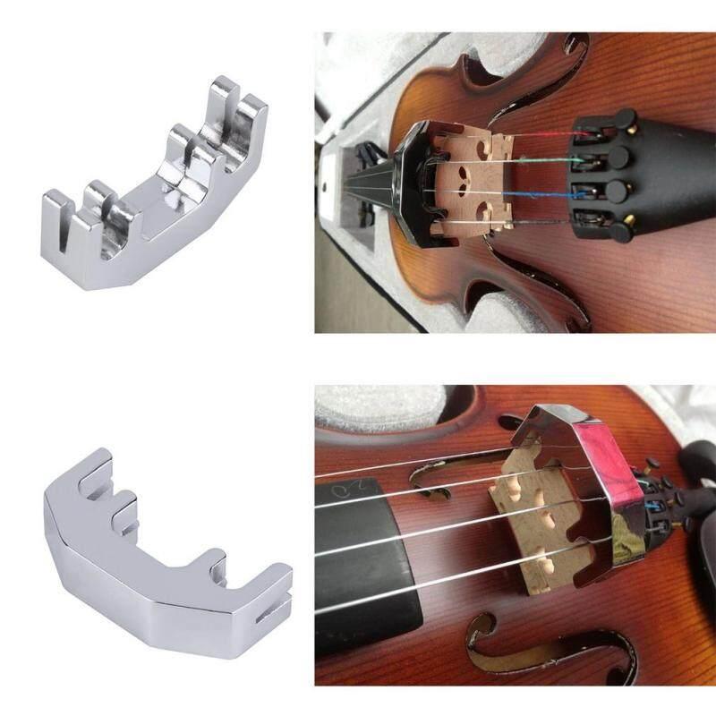 Allwin Mini Violin Practice Mute Metal Silver Fiddle Silent Silencer High Quality Malaysia