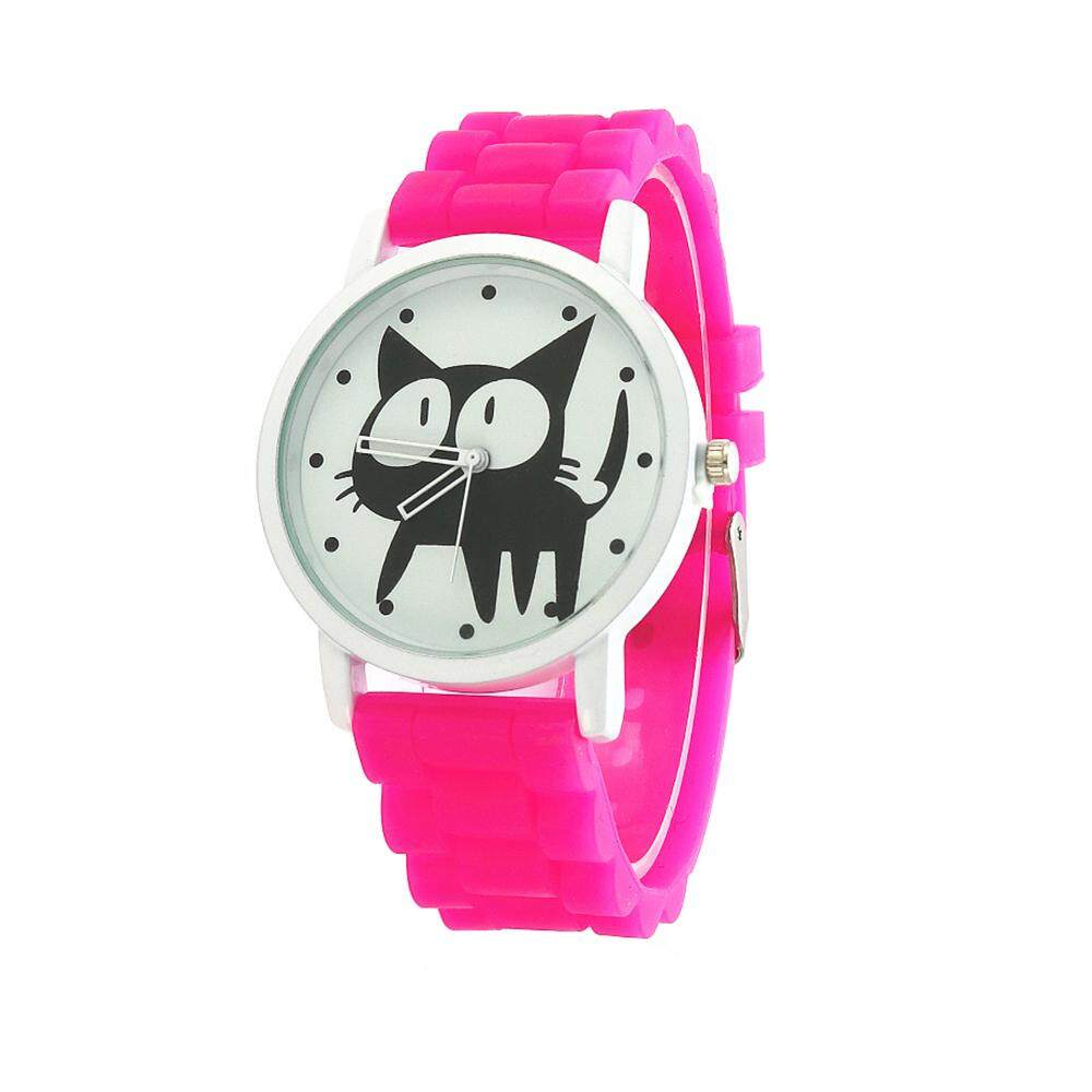 Comebuy Cat Cartoon Watches Kid Girls Leather Straps Wristwatch Children Quartz Watch Cute Clock Malaysia