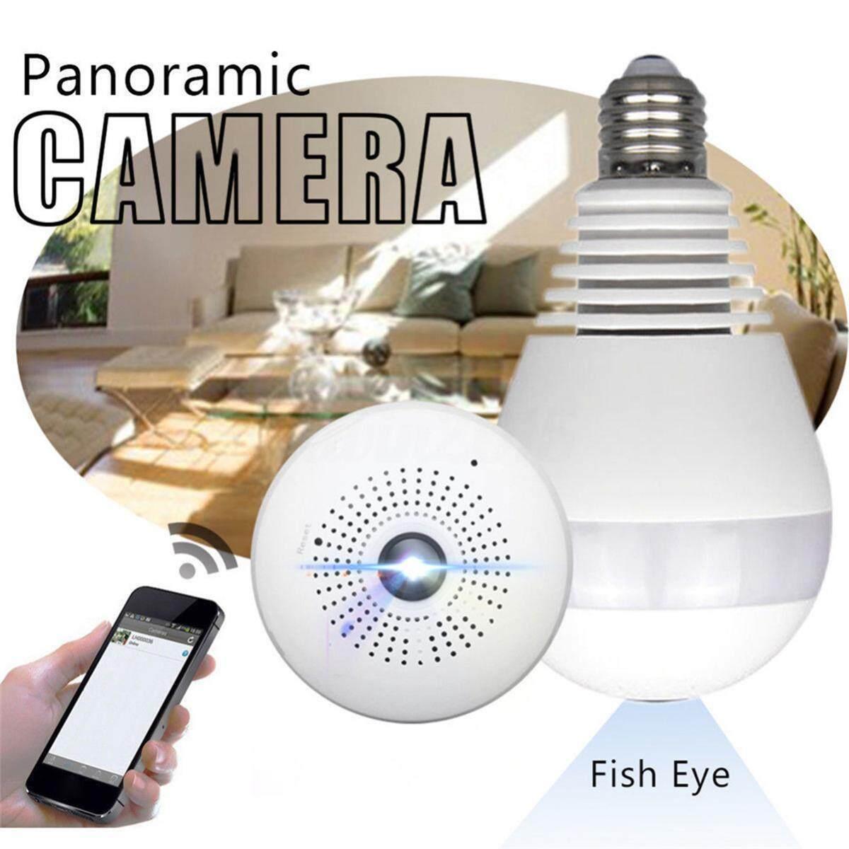 Treeone 960P WiFi Camera Bulb - HD Wireless IP Camera Night Vision VR Panoramic Fisheye Indoor