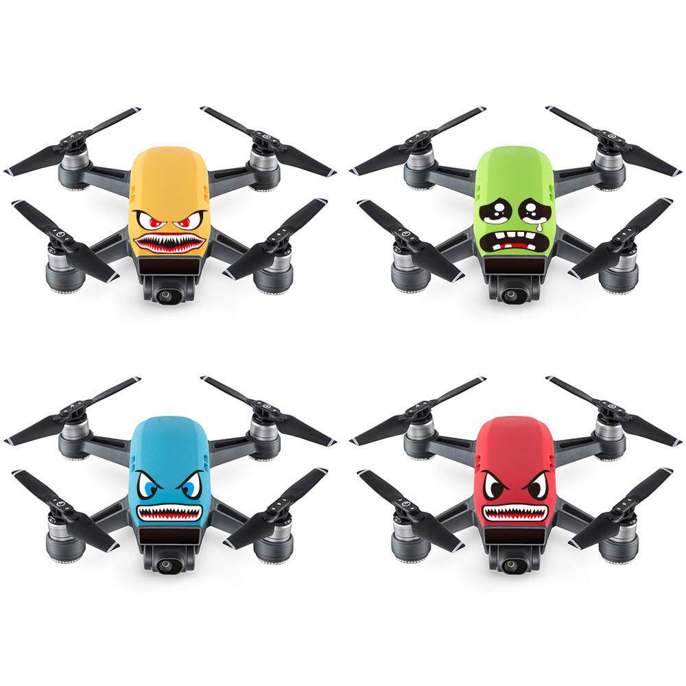 New 4Pcs DIY Cartoon Art Shark Sticker Decal Eyes Skin For DJI Spark Mavic  Pro