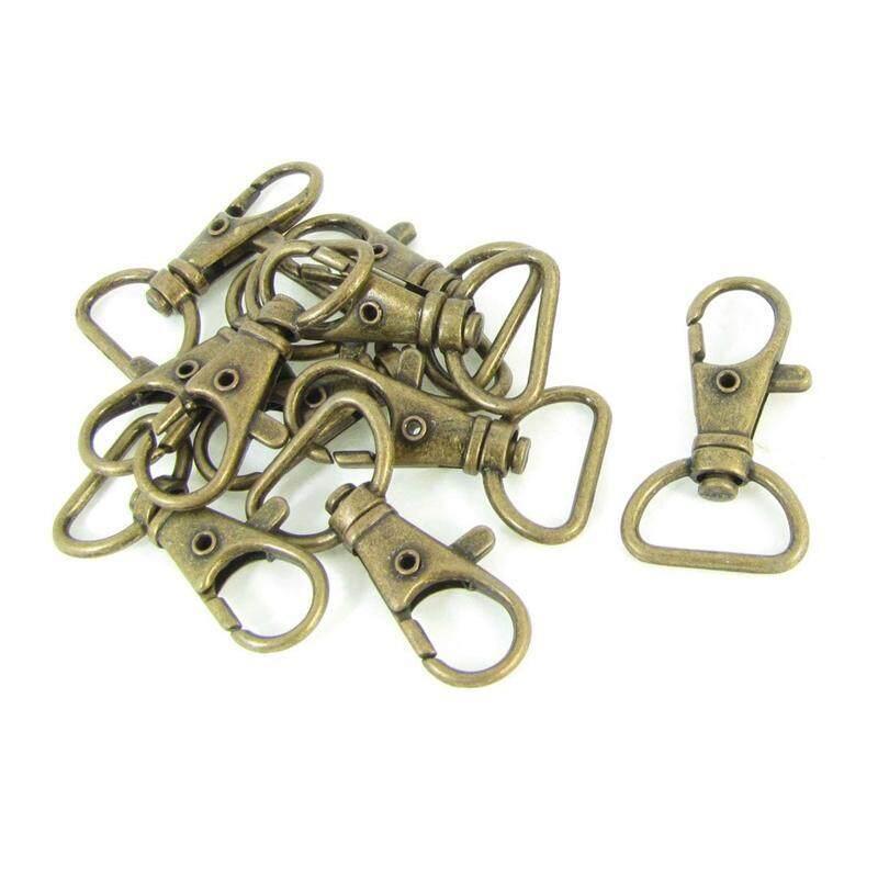 Bronze Tone Metal Handbag Strap Ornament Wearing Snap Hook 10 Pcs