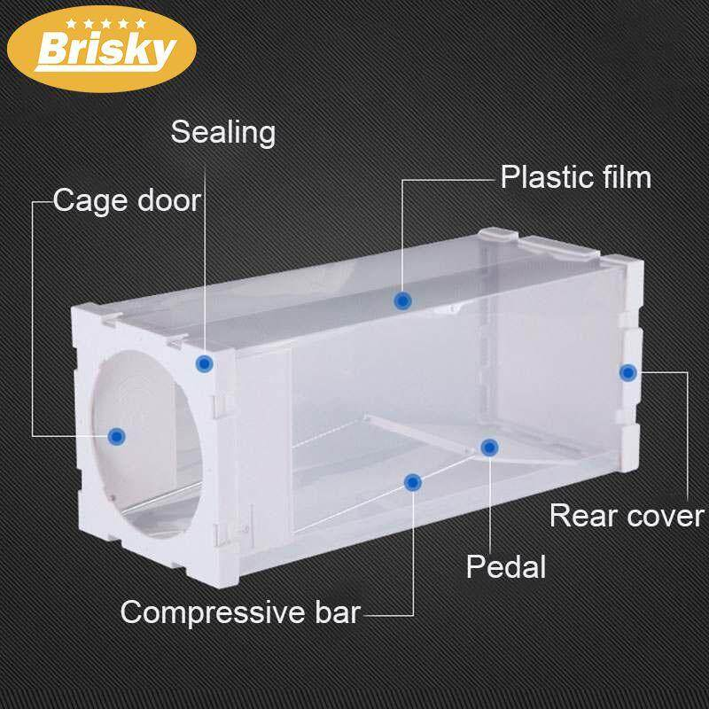 Brisky Polypropylene Reusable Trap Cage Rodent Animal Mouse Live Trap Hamster Cage Mice Rat Control