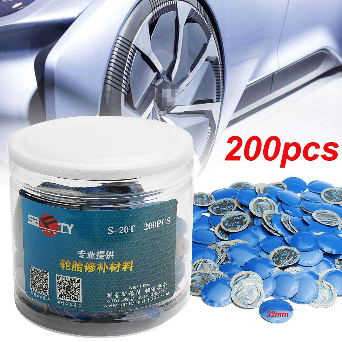 Universal 24pcs 32mm Natural Rubber Wired Tyre Puncture Repair Mushroom Patch By Freebang.