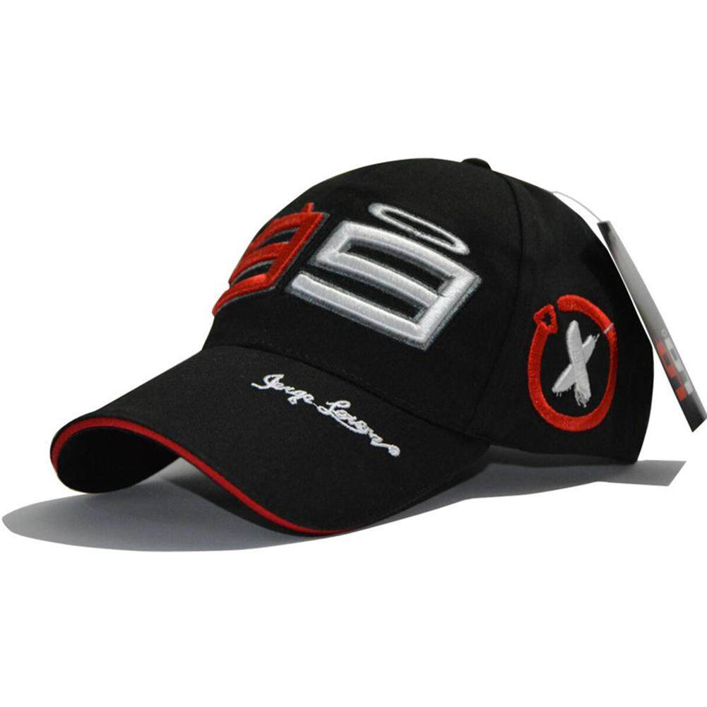 W-Toy Summmer Cotton Embroidery Season 99 Racing Sports Adjustable Baseball  Cap Riding Hat Black 36775dee4e