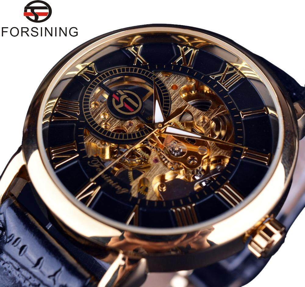 Mens Branded Watches With Best Price In Malaysia Expedition E6665m Jam Tangan Pria Strap Leather Gold Forsining Original 3d Logo Design Hollow Engraved Black Case Skeleton Mechanical Men Luxury