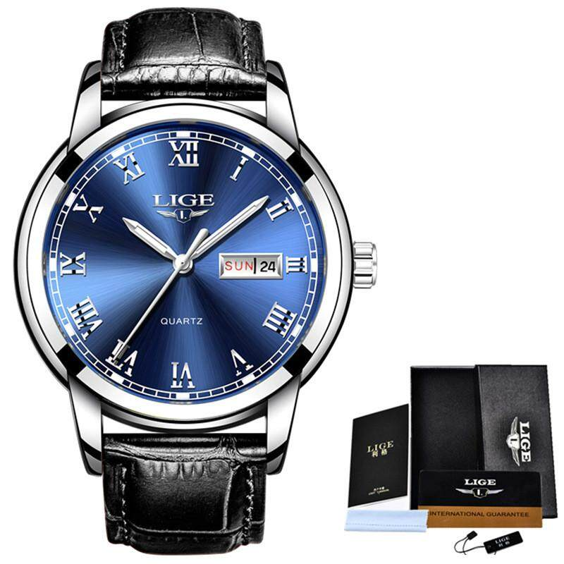 LIGE Watch Men Fashion Sports Quartz Full Steel Gold Business Mens Watches Top Brand Luxury Waterproof Watch Relogio Masculino 9846 Malaysia