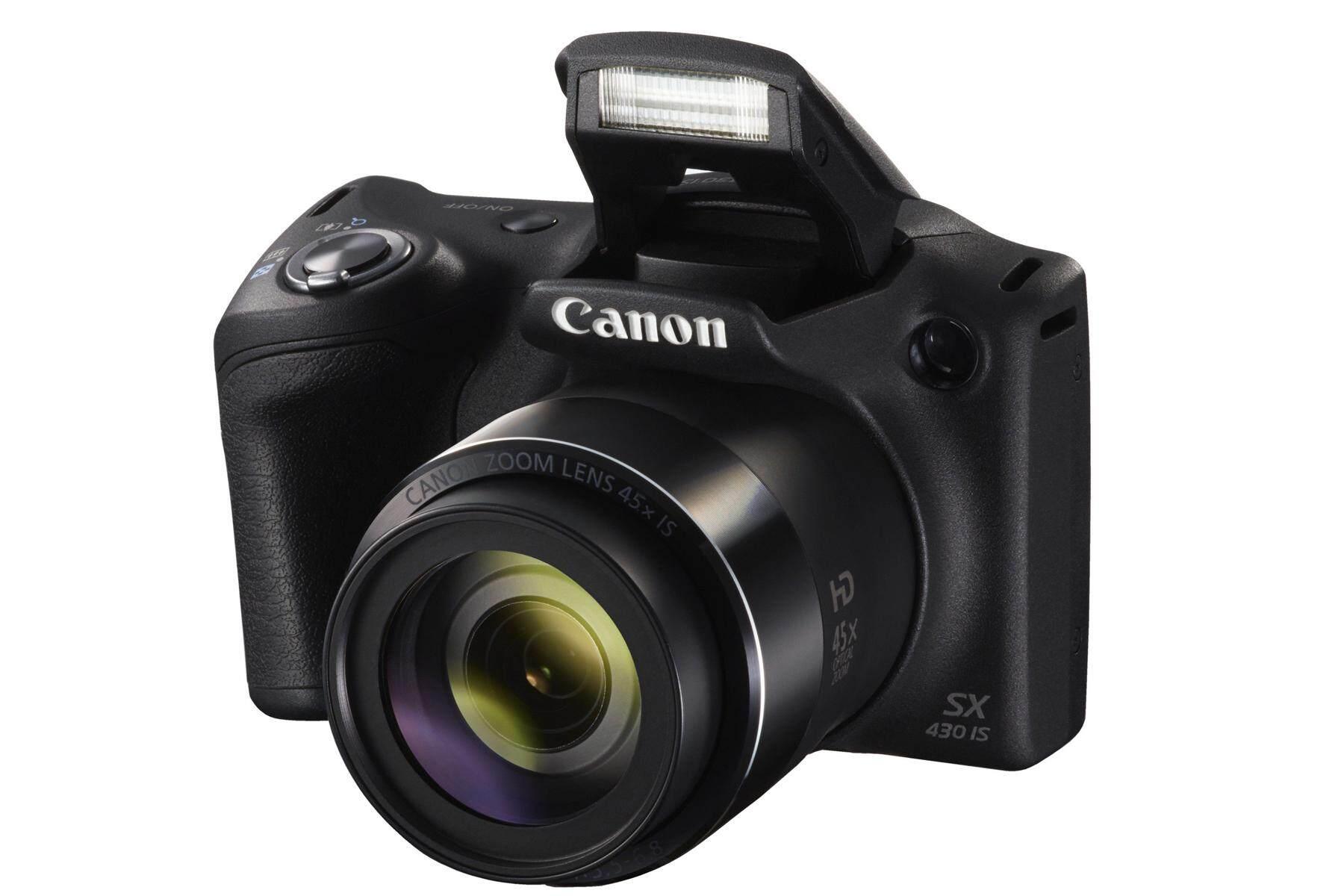 Canon PowerShot SX430 is 20 MP Digital Camera Black FREE 16GB & CASE