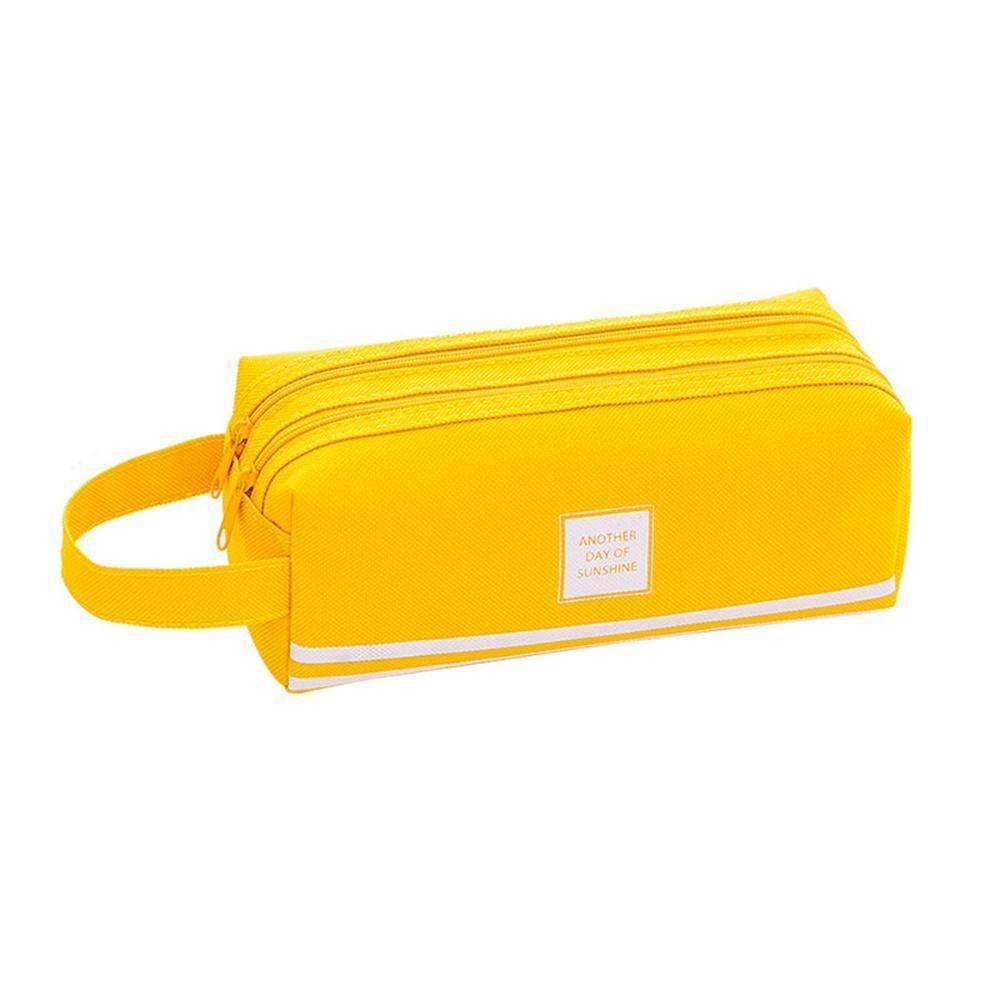 d858a173687b Treeone Student Pencil Case, Double Layer Large Capacity Portable Pencil  Bag School Supplies Fashion Simple School Case 19.5*7.5*7.5CM