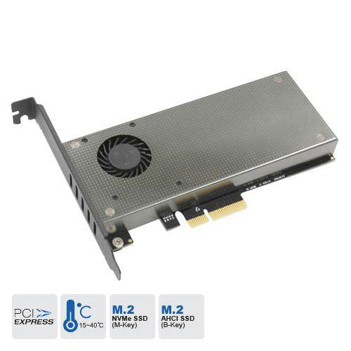 SSD M.2 Adapter Card (M.2 NVMe + AHCI) - Casing & Heat Sink With Fan Malaysia