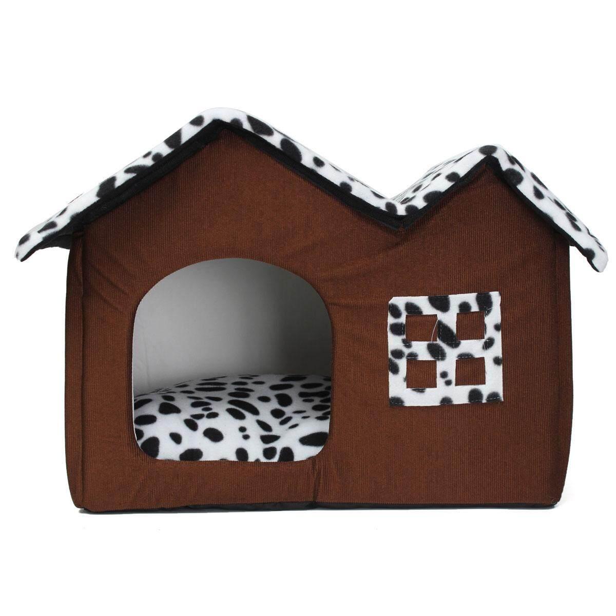 Portable Dark Brown Luxury Pet Dog Cat Bed House Warm Mat Snug Puppy Bedding By Surmounter.