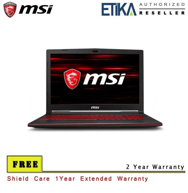 MSI GL63 8RC 412 (GeForce GTX 1050, 4GB GDDR5) Gaming Laptop - Free ShieldCare + Backpack Malaysia