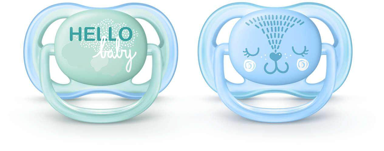 Philips Avent Ultra Air Pacifier 0-6M Boy SCF342/ ( SCF342/20 )