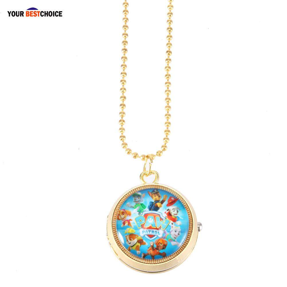 YBC Cute Cartoon Flip Retro Pocket Watch Anime Figure Necklace Hanging Watch Child Watches Malaysia