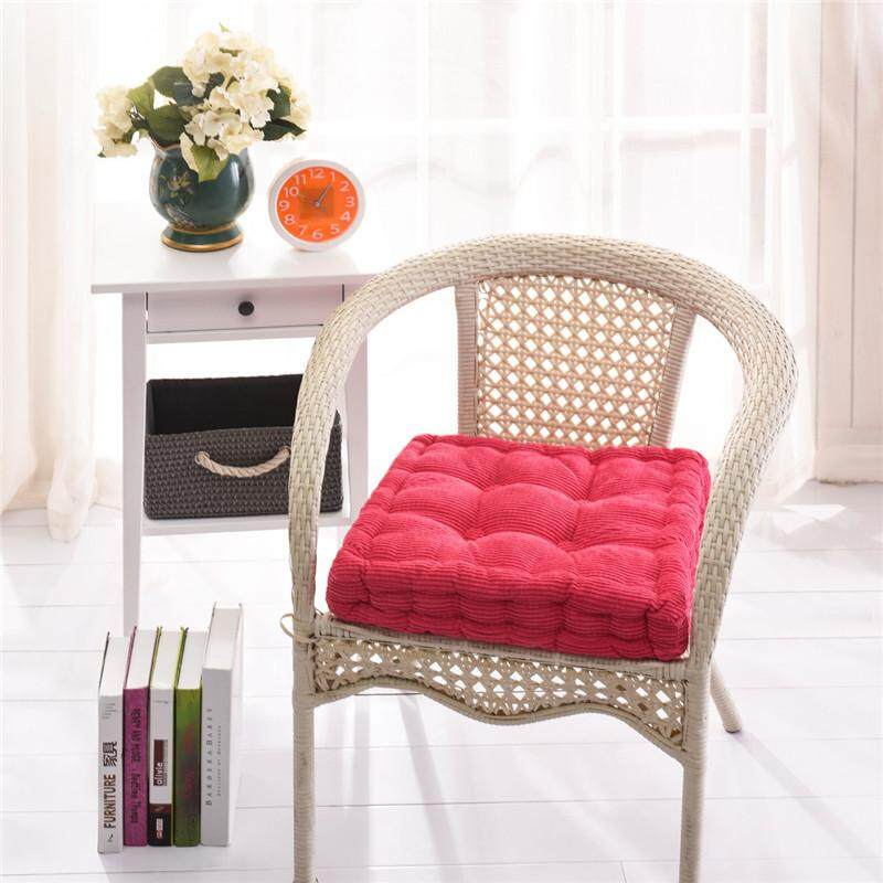 Dolity New Outdoor Sofa Office Square Garden Seat Chair Cozy Cushion Pad Rose Red