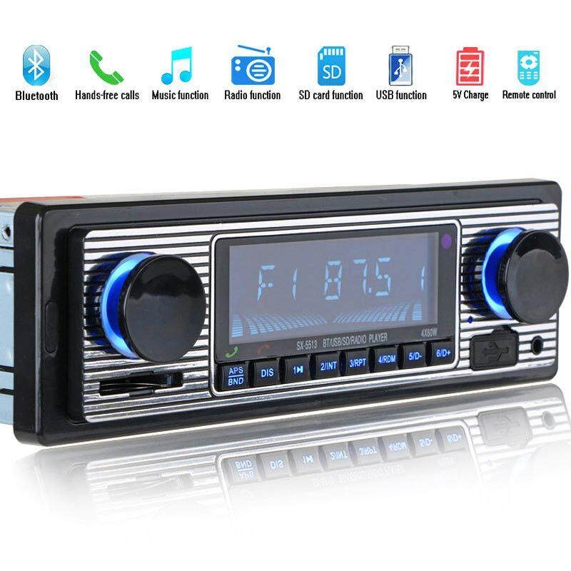 Bluetooth Car Radio Mp3 Player Stereo Usb Aux Classic Car Stereo Audio 12 Pin Pc By Yoyonow.