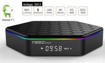 T95Z PLUS AMLOGIC S912 3GB RAM 32GB ROM FULLY LOADED 40+ MOVIE/DRAMA/IPTV/UTILITY APPS ANDROID 7.1 DUAL WIFI GIGABIT LAN BLUETOOTH 4