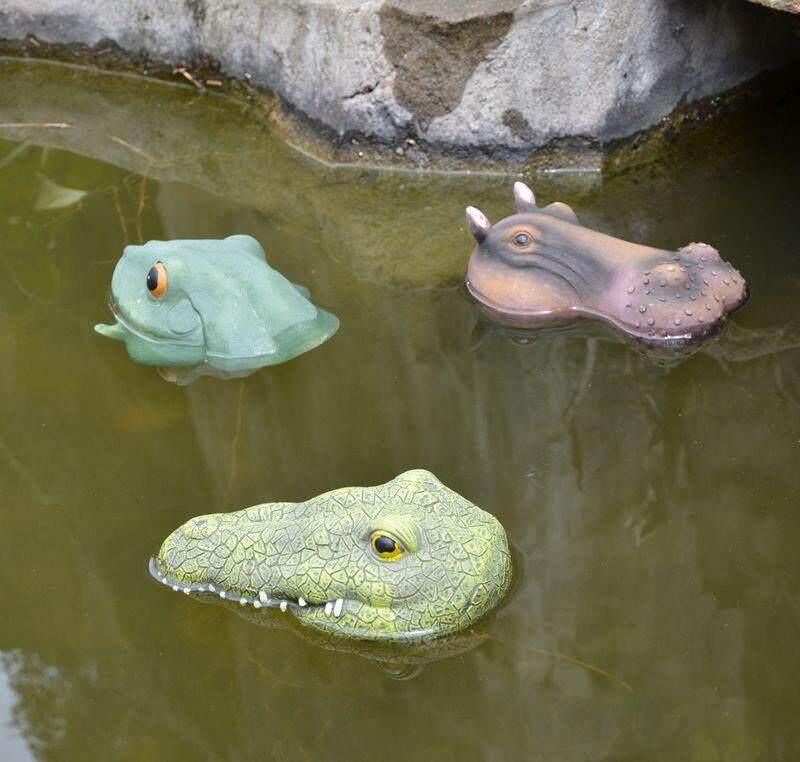 1 Pc Random Gardening Simulation Animal Ponds Decor PVA Nontoxic Frog Crocodile Hippo Decor