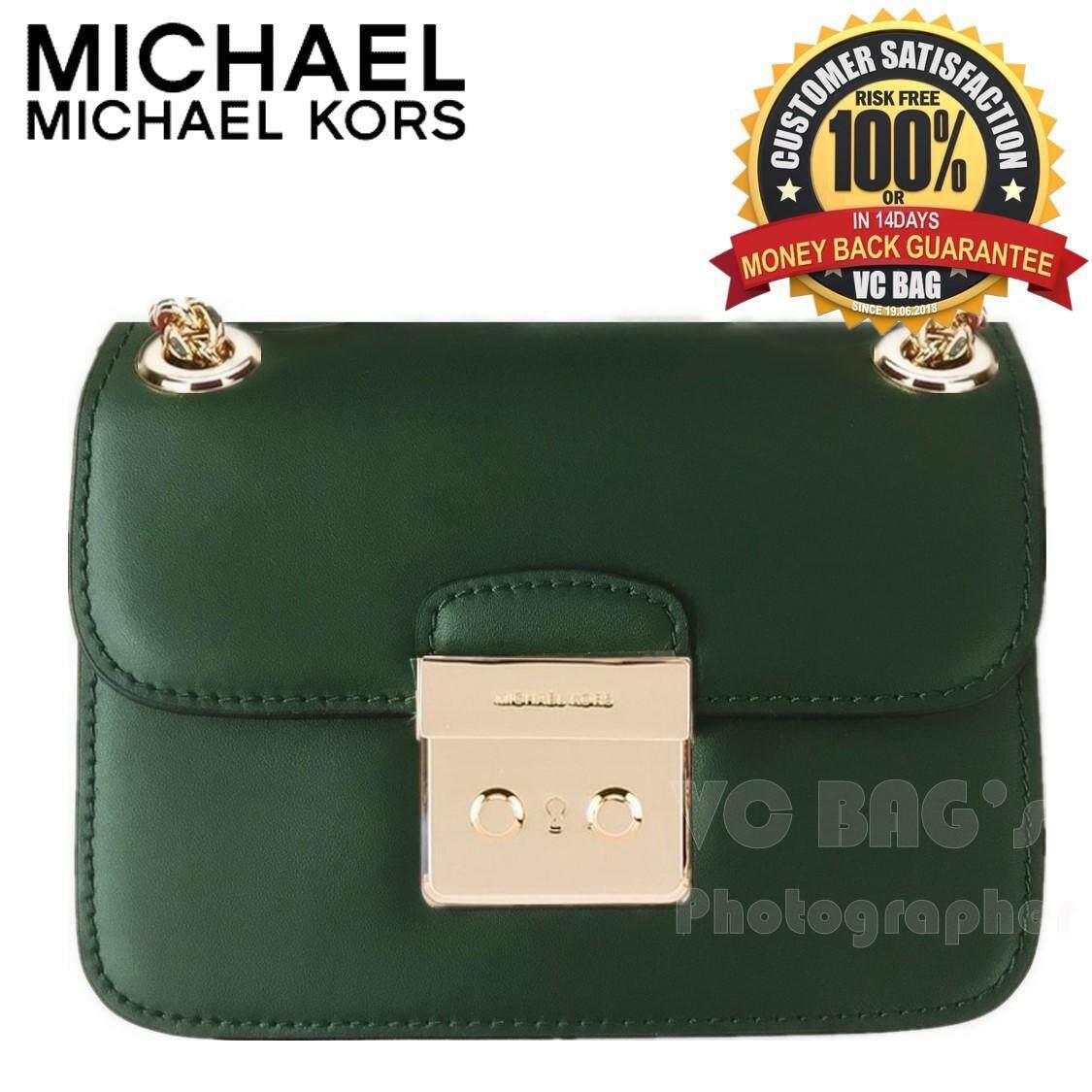 cee8da652ecc Malaysia. MICHAEL KORS Sloan Editor Small Chain Shoulder Bag  Green