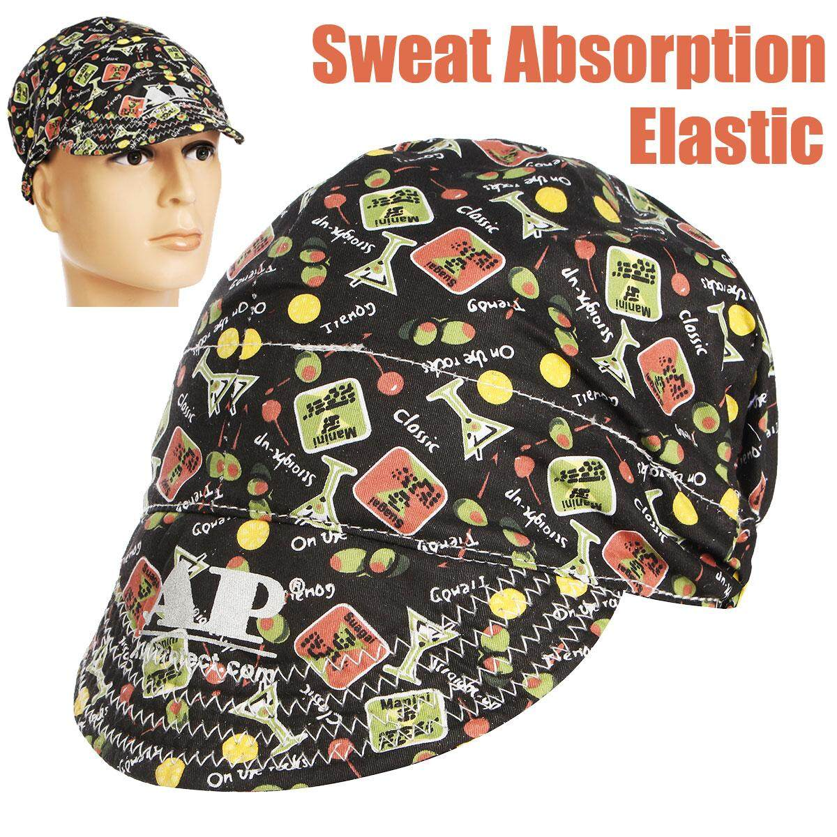 3PCS Universal Sweat Absorption Elastic Welding Welder Hat Cap Soft Cotton Happy Hour