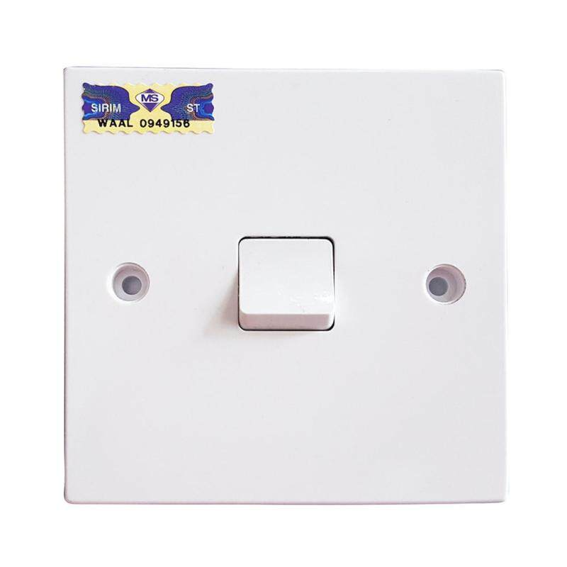 Ezlife UMS 1 Gang 1 Way Flush Switch 10A (SIRIM Approved) UMS 201