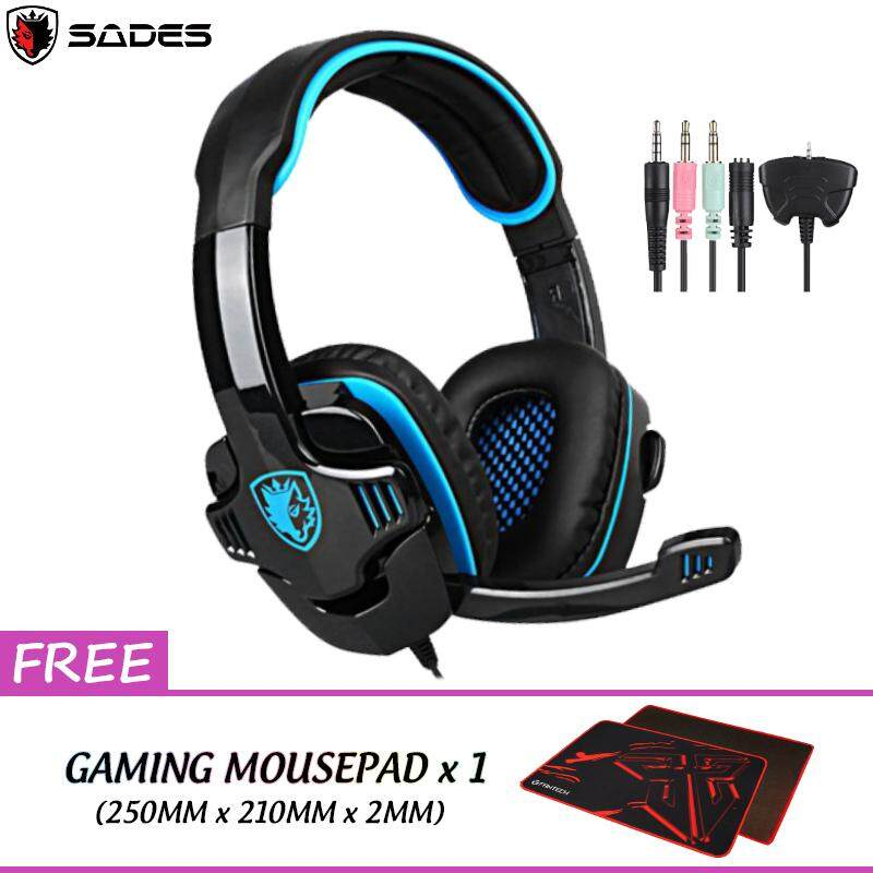 SADES SA-708GT Gaming Headset Headphones Stereo Computer Gamer Earphones with Microphone for Xbox 360