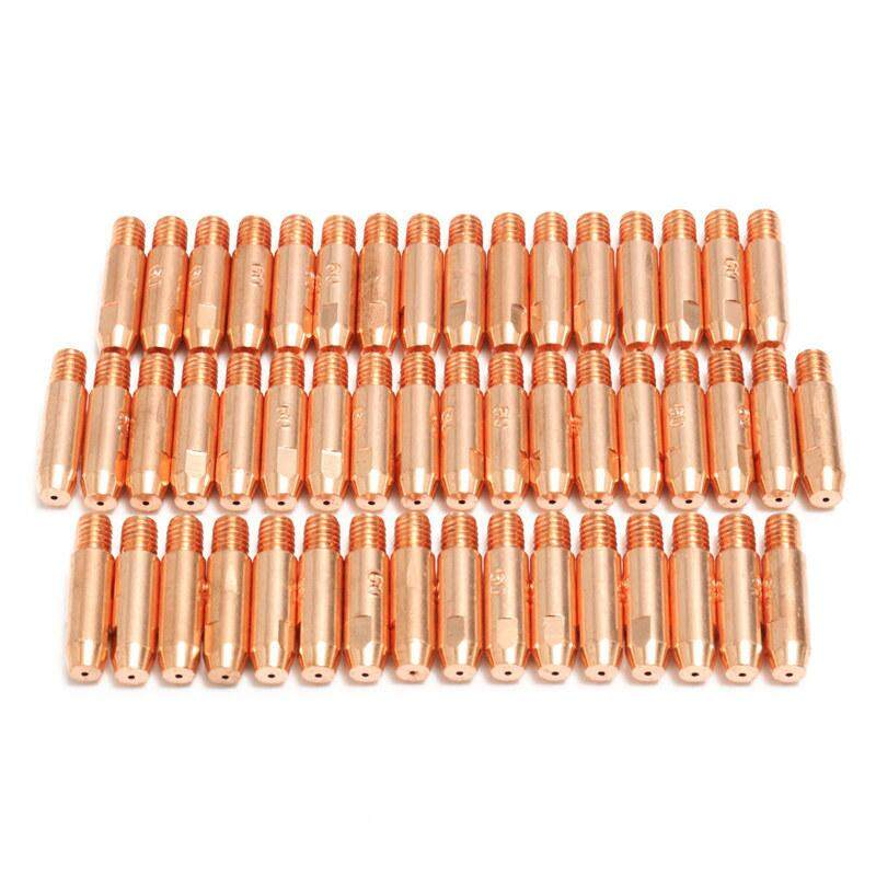 50Pcs 0.8mmx6mm Copper Contact Tip For MB24 MIG MAG Welding Welder Torch