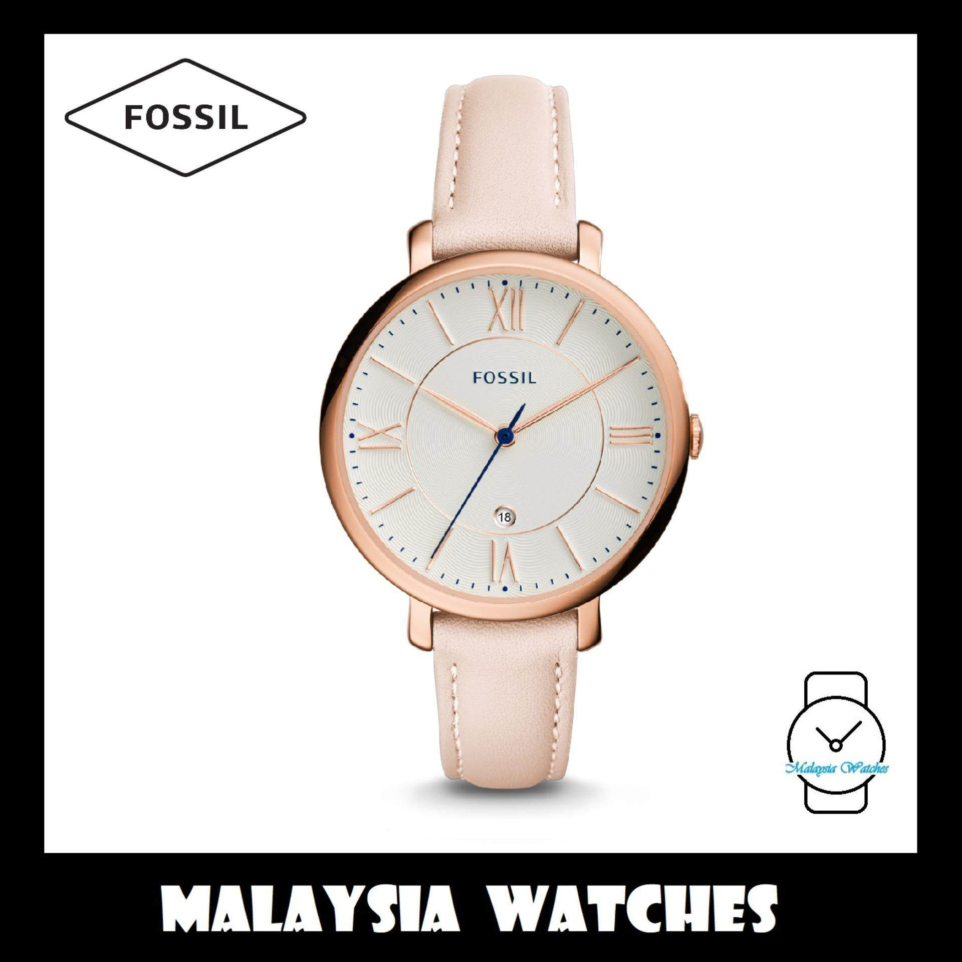 Fossil Women Watches Price In Malaysia Best Es3880 Jam Tangan Wanita Original Official Warranty Es3988 Jacqueline White Dial Leather Watch Light Pink