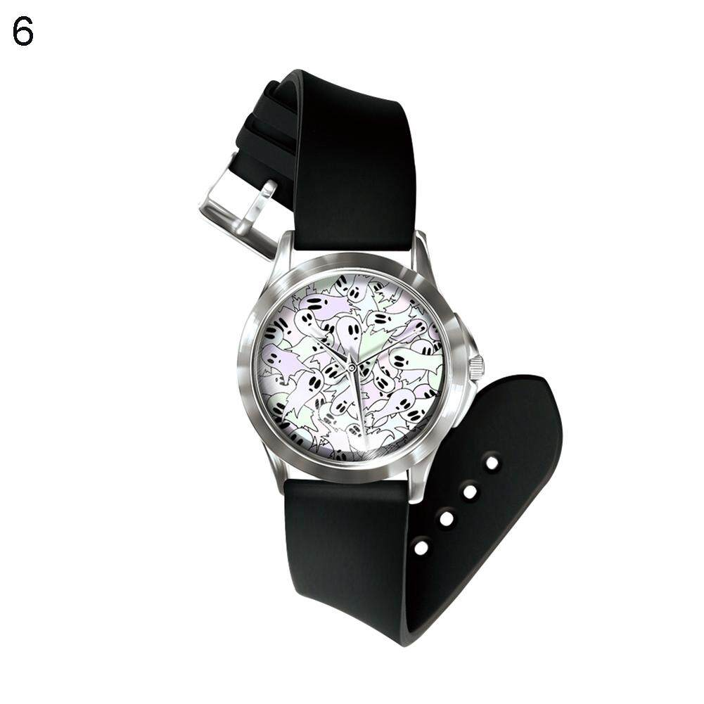 BODHI Halloween Ghost Series Skull Unisex Analog Quartz Wrist Watch Birthday Gift (6#) Malaysia