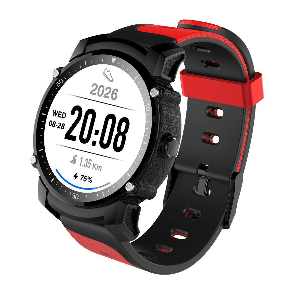 FS08 Bluetooth Smart Watch Waterproof IP68 Swim GPS Sports Fitnes Tracker Stopwatch Heart Rate Monitor Wristwatch Red Malaysia