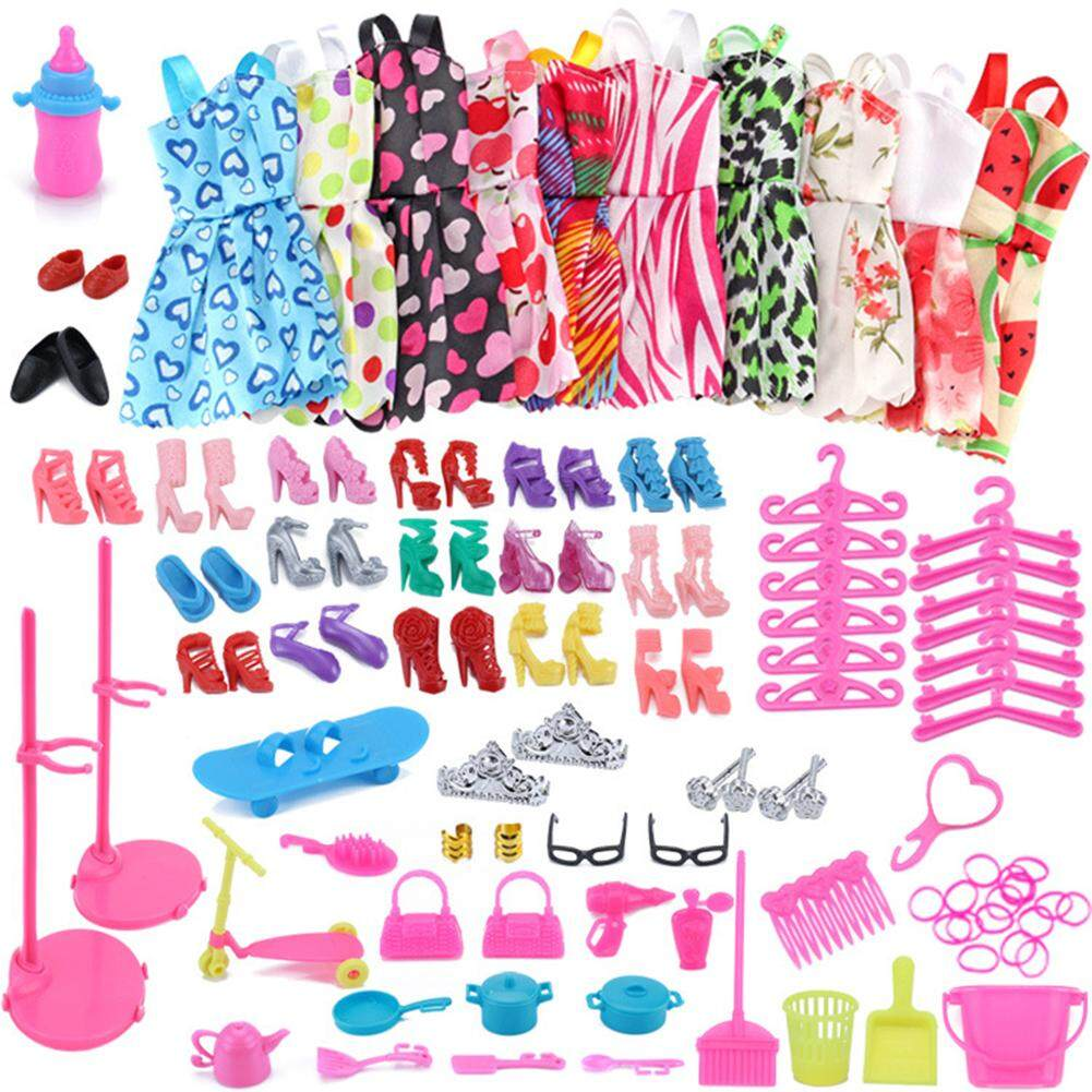 e3796ee3eb Product details of Outops 10PCS Fashion Mixed Style Dress Ornaments Shoes  Accessories for Barbie Doll Best Gift Girl Toy Height:Barbie Doll  Accessories Set