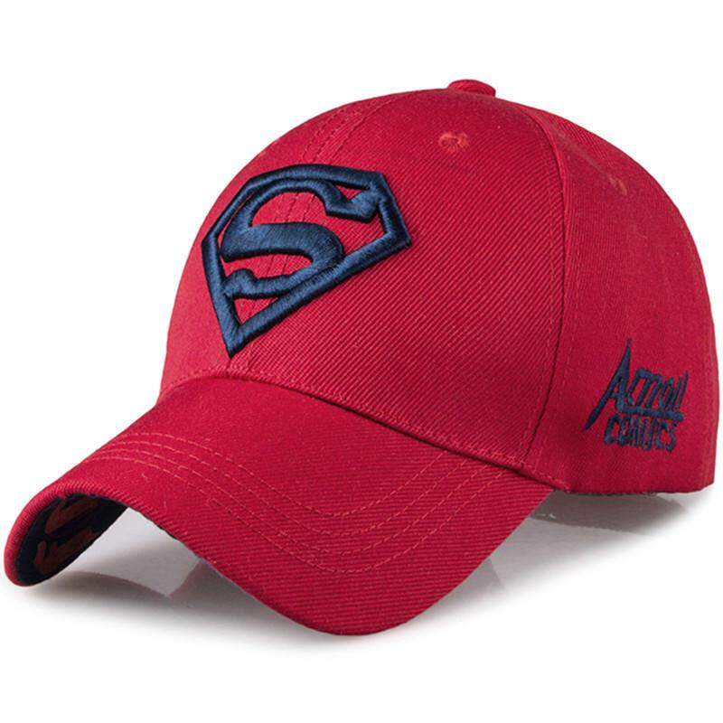 bc949f8d995 Men s Fashion Superman Baseball Cap Outdoor Sunscreen Cap Wild Leisure Visor  Hat