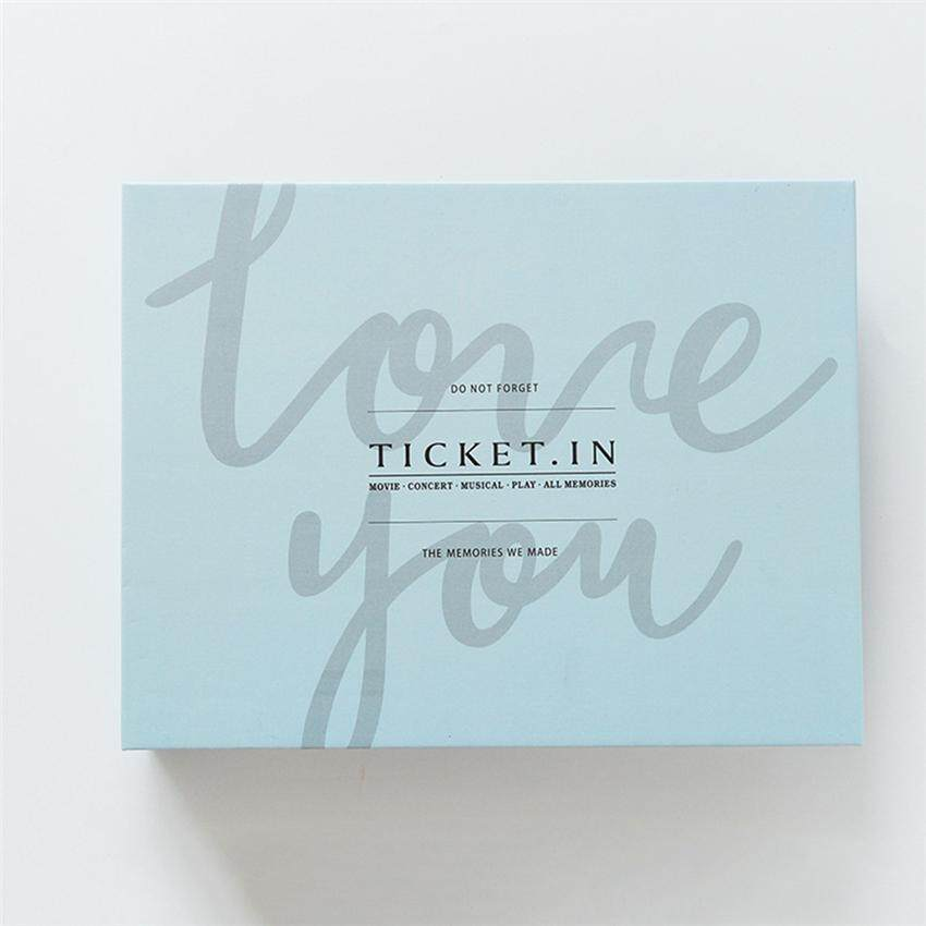 TTLIFE Loose-leaf cross-section notes Accommodate this DIY concert ticket Movie ticket album