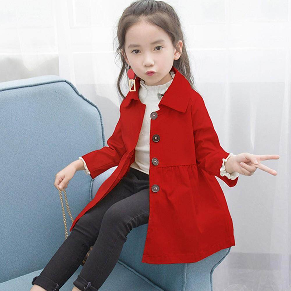 Tideshop Children Baby Coat Autumn Jacket Outerwear Pure Color Windbreaker Clothes By Tideshop.