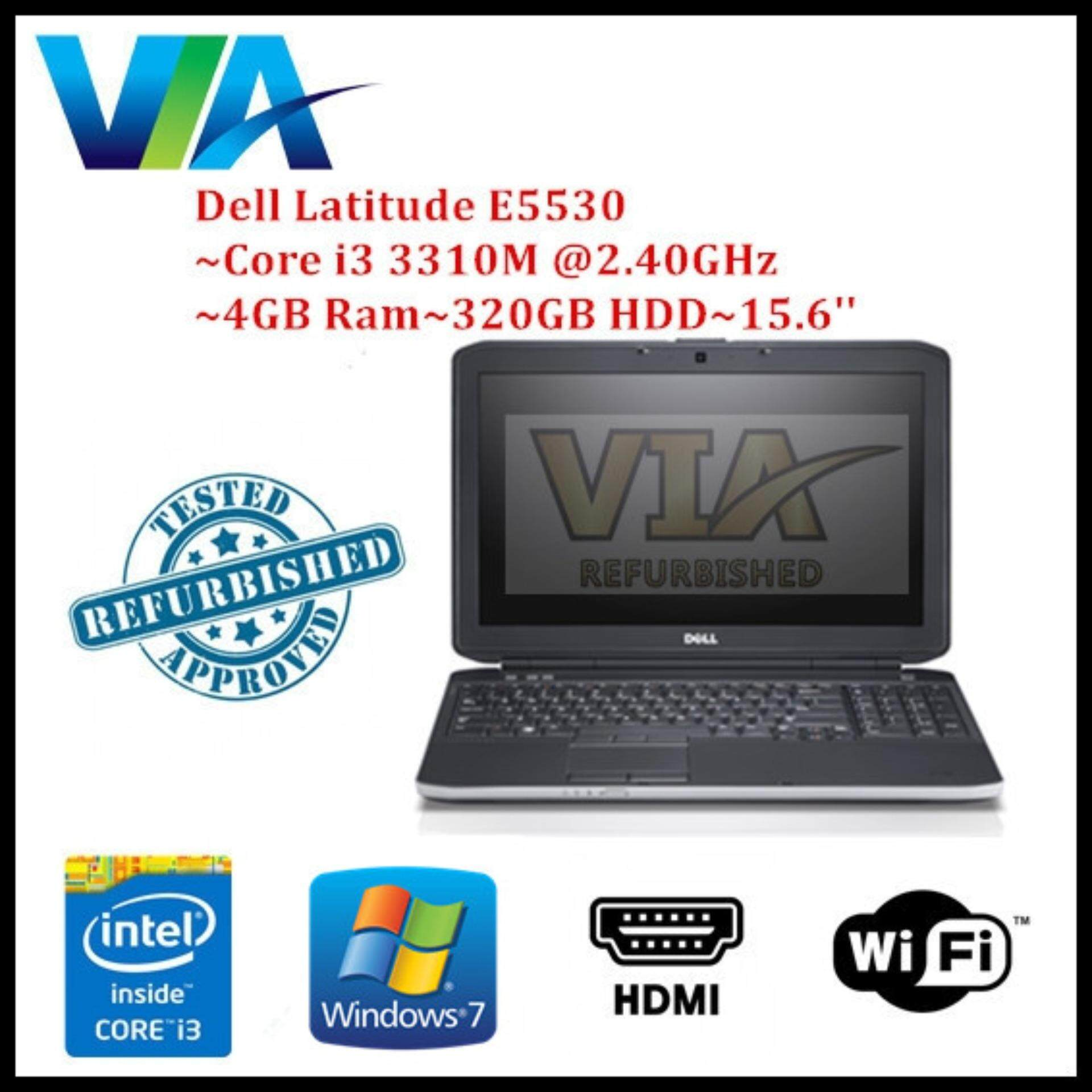 Refurb Dell Latitude E5530 Core i3/4Gb/320Gb/Win7/15.6 Malaysia