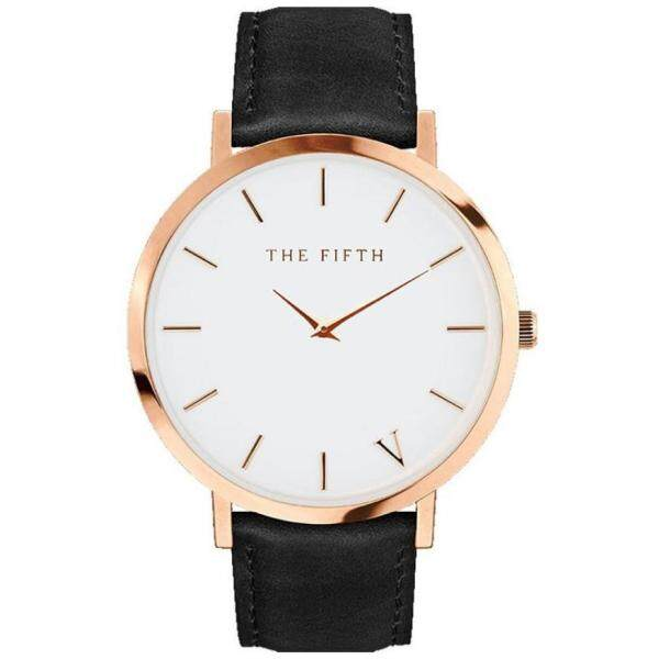 The Fifth Watch Leather Simple Women Quartz Analog Band Watch (READY STOCK) Malaysia