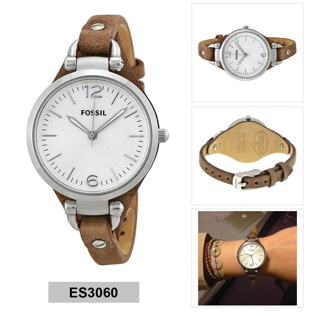 Buy Sell Cheapest Fossil Women Es4099 Best Quality Product Deals Perfect Boyfriend Es4093 Blue Navy Georgia Brown Stainless Steel Case Leather Strap Ladies Es3060