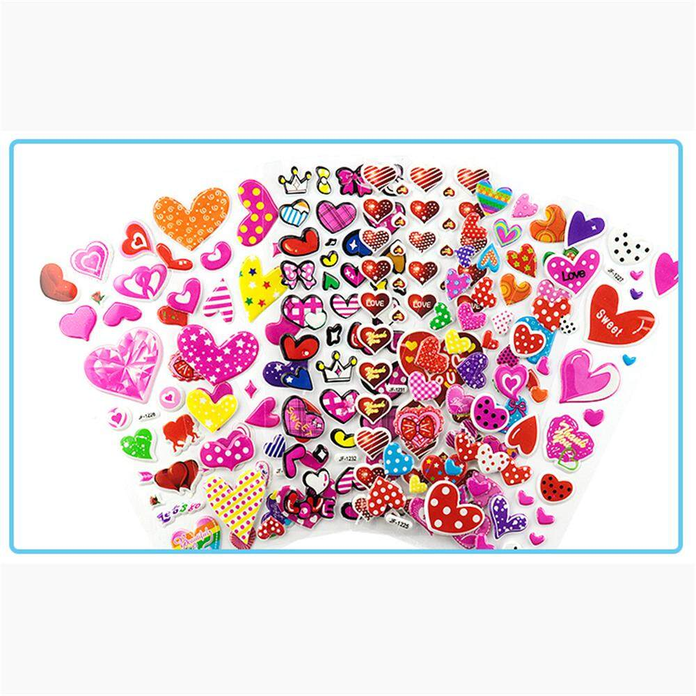 Luugs- 20pcs Childrens Cartoon Stickers 3d Three-Dimensional Stickers Bubble Stickers By Luugs.