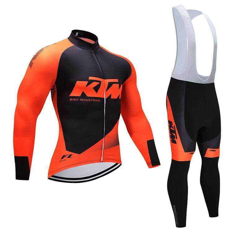YOUPIN Men s Cycling Jersey Suit Long Sleeve MTB Bike Bicycle Shirt Tights  3D Padded Pants Winter df1aa9391