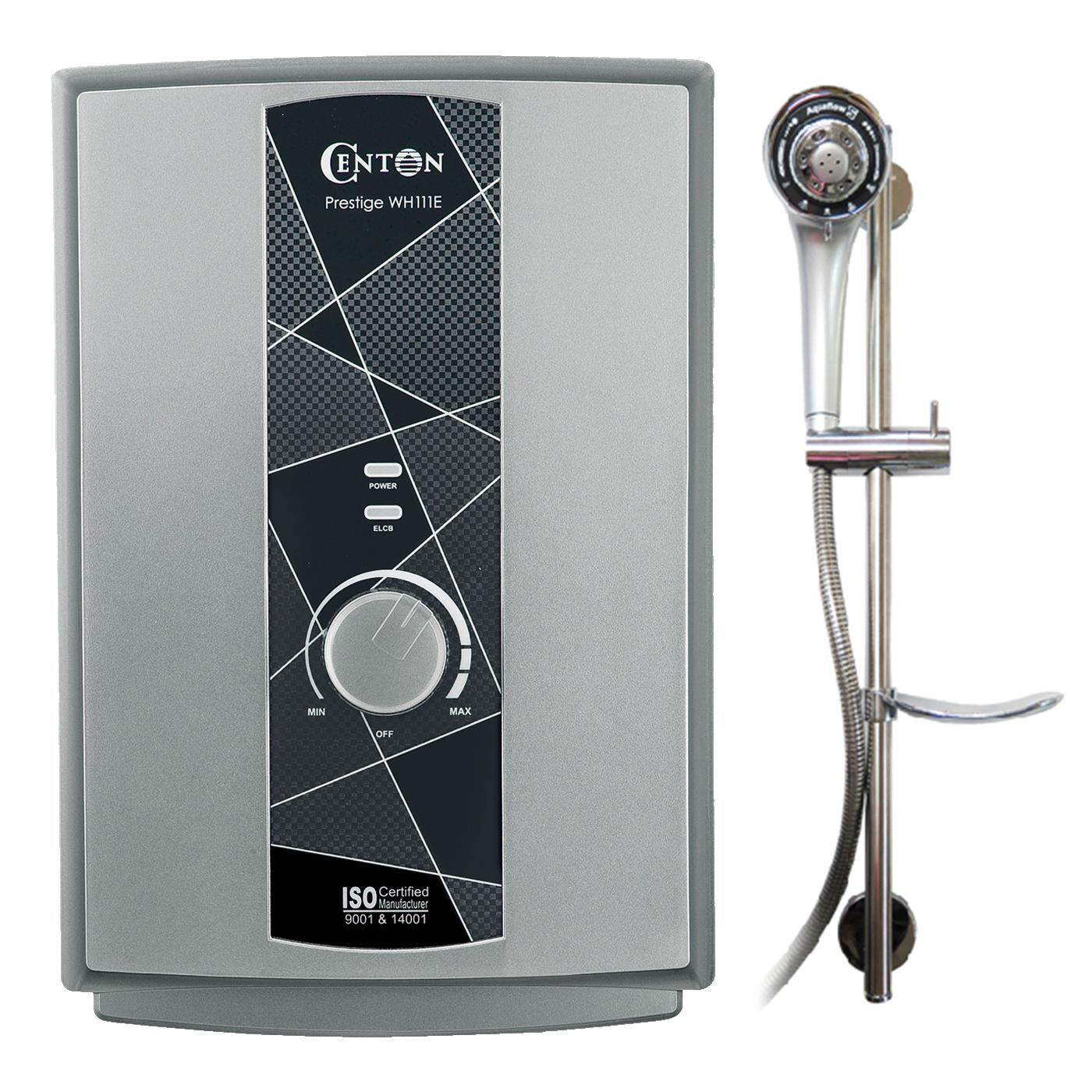 CENTON Instant Shower Water Heater - Prestige Series (2 color options  no pump)