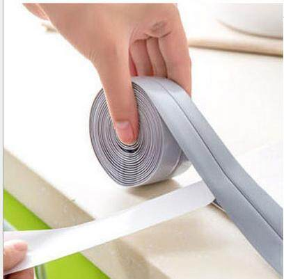 [Buy 1 Get 1 Free] Self Adhesive Bath And Wall Sealing Strip Sink Basin Edge Trim Kitchen (Grey 22mm x 3.2m)