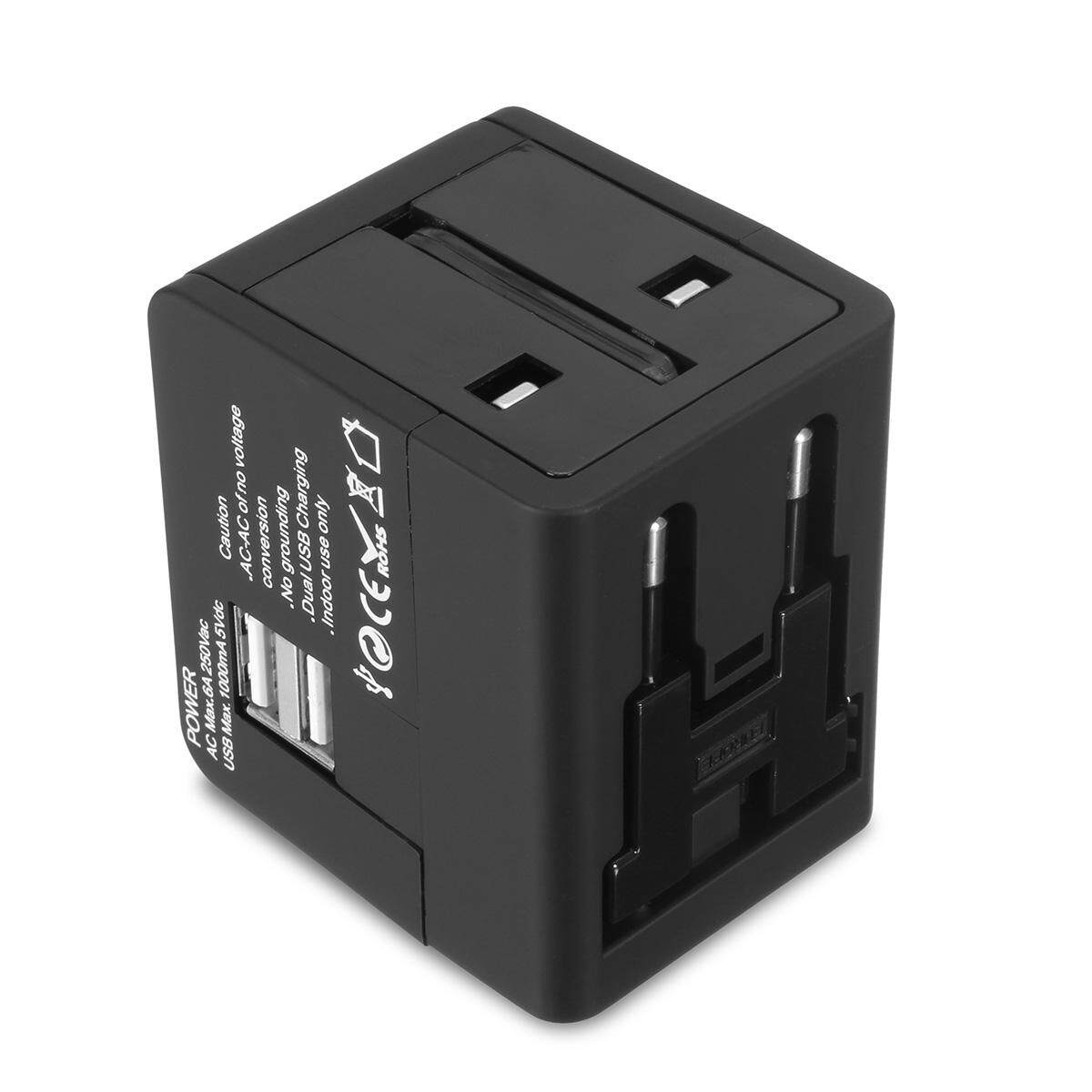Us Uk Au Eu Worldwide Travel Charger Power Adapter Converter Wall Plug Home 2usb By Freebang.