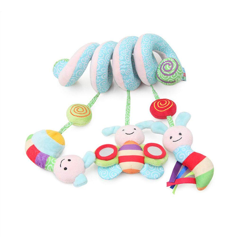 Baby Stroller Toys With Music Cute Bees Insects Shape Rattle Bed Crib Hanging Stroller Spiral Plush Appease Toys By Qimiao Store.