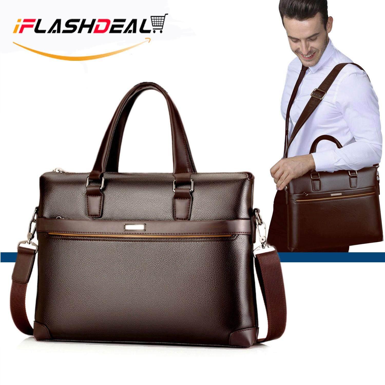 631e07d0b58c iFlashDeal Men Business Bag Briefcase PU Leather Shoulder Bag Laptop Bag  Messenger Sling Bags