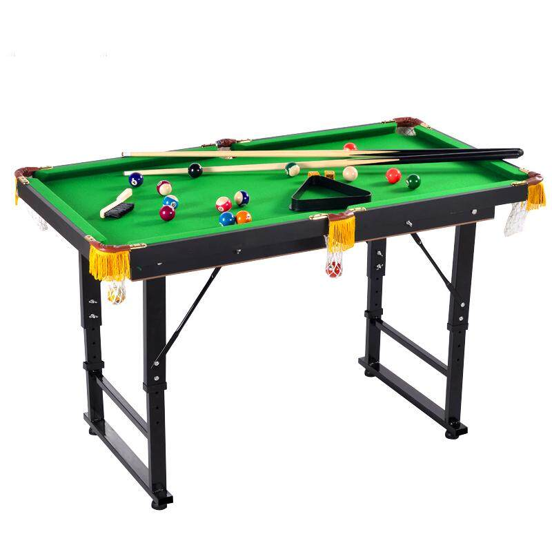 Folding Miniature Billiards Pool Table w/ Cues and Balls