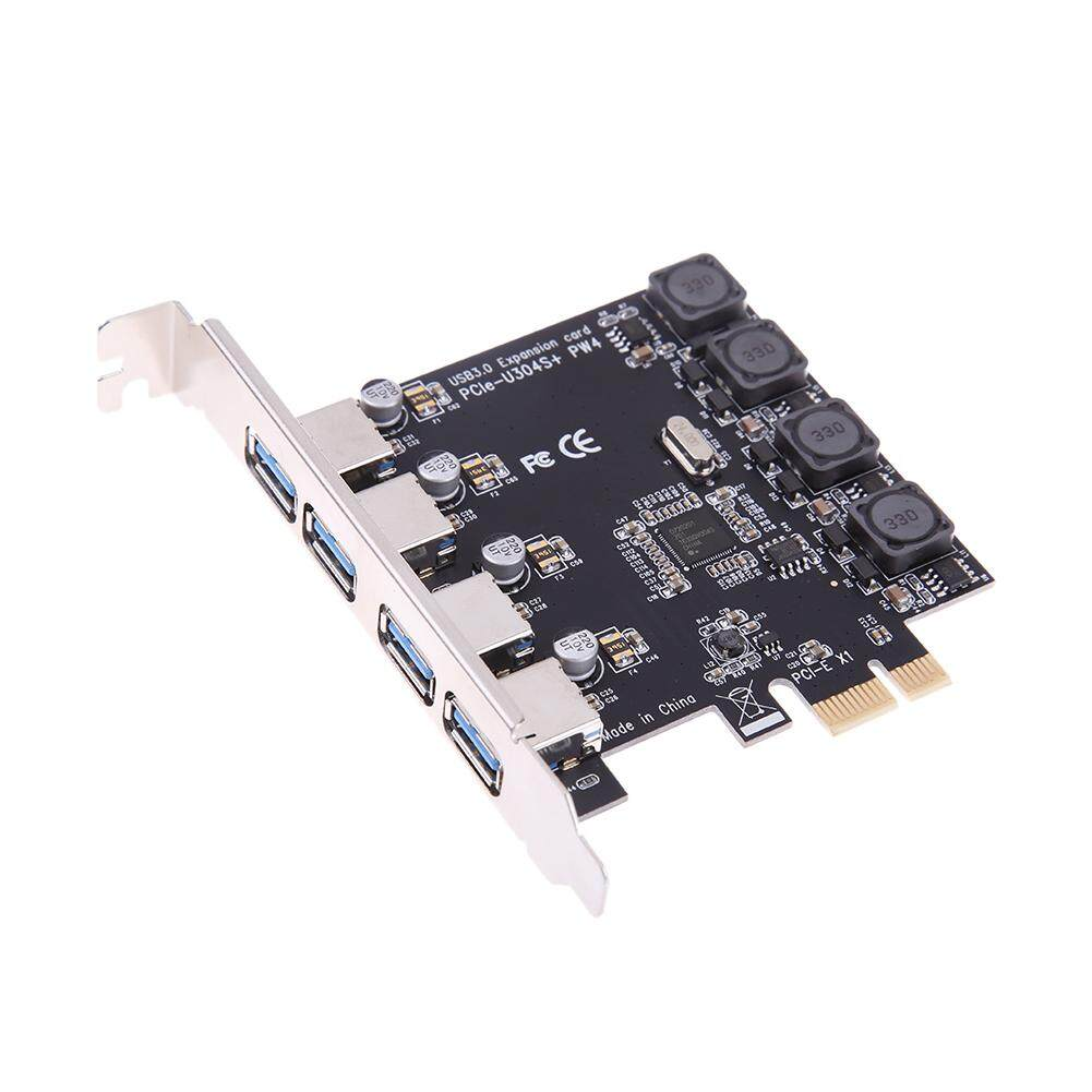 USB PCIe Card, 5Gbps Super Speed NEC Chipset 4 Port USB 3.0 to PCI Express Card Expansion card, PCI-E to USB 3.0 4 Port Hub Controller Adapter for Descktops PC Malaysia