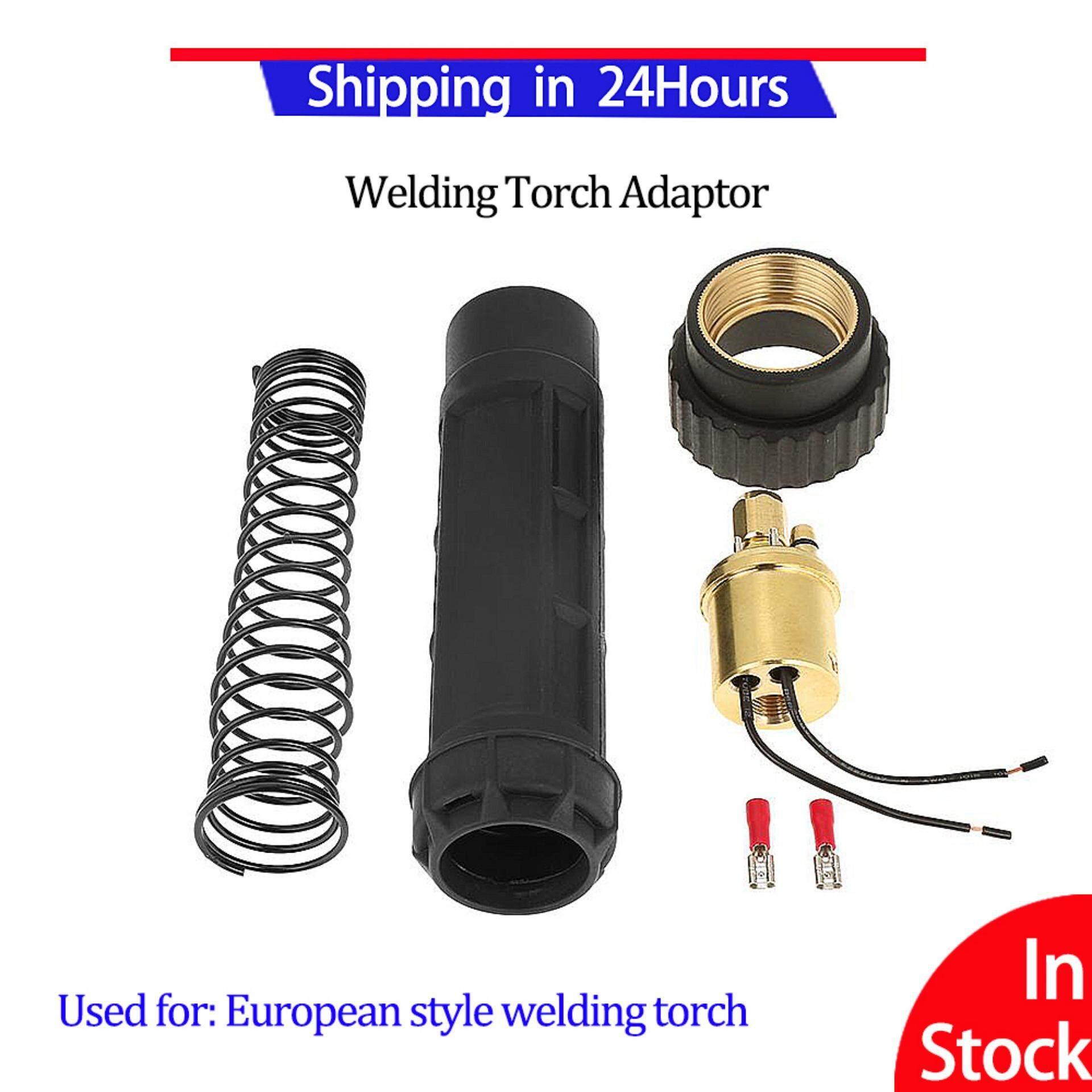 Welding Torch Adaptor Euro Fitting Connector Brass CO2 Mig Welding Torch Adaptor Conversion Kit Set