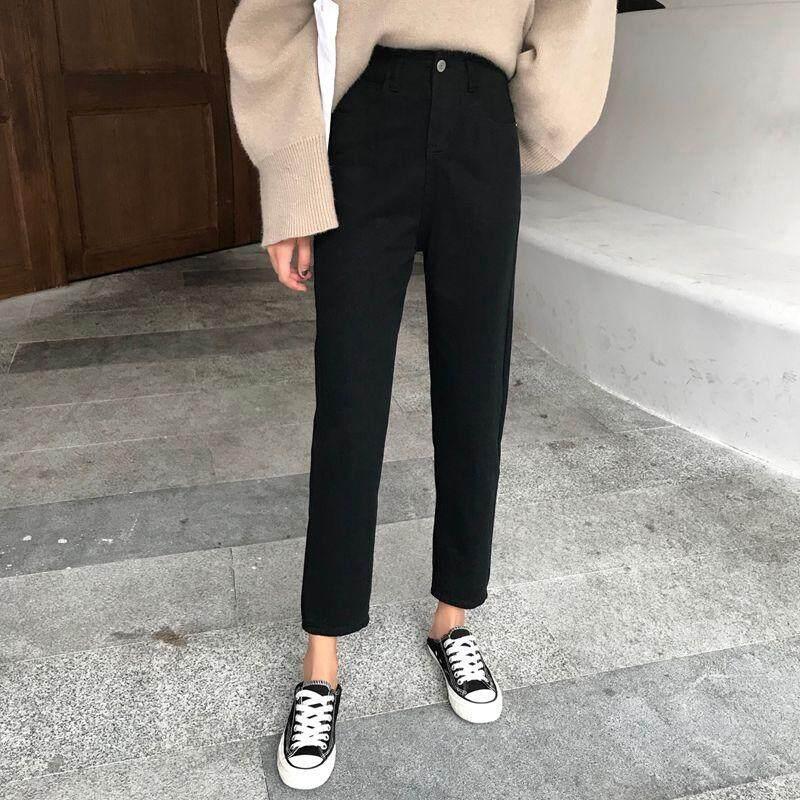 c52136fd68d0 Slim Pencil Pants Vintage High Waist Jeans Womens Pants Full Length Pants  Loose Cowboy Pants