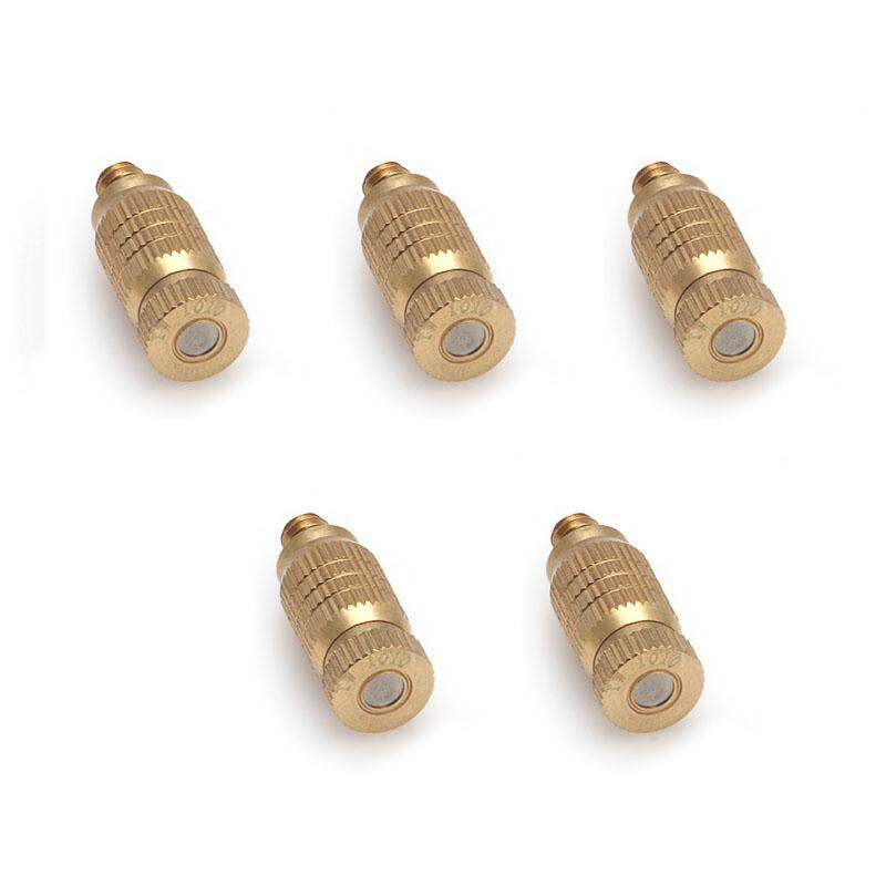 5pcs 2-section Fine Brass Misting Nozzles for Cooling System ( 0.10mm ) New