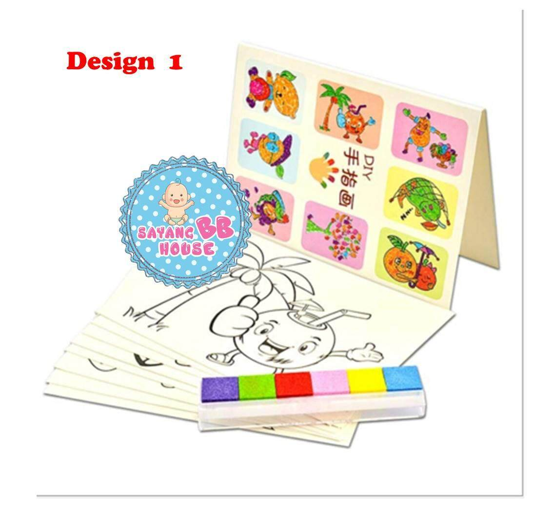 Kid Art & Craft Finger Painting Set (8pcs Different Design) Children Diy Finger Paint Play Education Toys By Sayang Bb House.